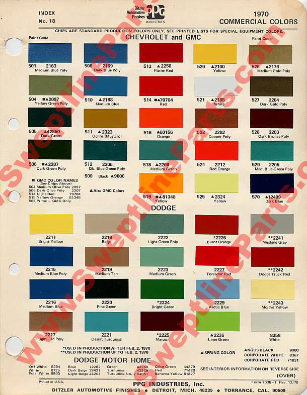 Chevy Truck Paint Colors